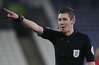 Referee  Matt Donohue<br /> <br /> Photographer Mick Walker/CameraSport<br /> <br /> The EFL Sky Bet Championship - Huddersfield Town v Birmingham City - Tuesday 2nd March 2021 - The John Smith's Stadium - Huddersfield<br /> <br /> World Copyright © 2020 CameraSport. All rights reserved. 43 Linden Ave. Countesthorpe. Leicester. England. LE8 5PG - Tel: +44 (0) 116 277 4147 - admin@camerasport.com - www.camerasport.com