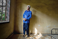 CAMBODIA / Phnom Penh<br /> Vann Nath , Survivor from S21 Pol Pot Prison<br /> <br /> © Daniele Mattioli / Anzenberger