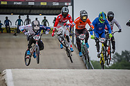 #211 (EVANS Kyle) GBR and #202 (VAN DE GROENENDAAL Kevin) NED at Round 6 of the 2018 UCI BMX Superscross World Cup in Zolder, Belgium