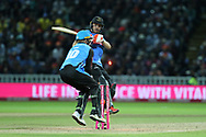 Sussex's Laurie Evans bowled during the final of the Vitality T20 Finals Day 2018 match between Worcestershire rapids and Sussex Sharks at Edgbaston, Birmingham, United Kingdom on 15 September 2018.