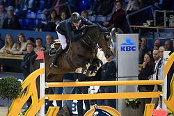 Clee Joe, GBR, Kafka vd Heffinck<br /> Young Stallions 6 years of age<br /> Vlaanderens Kerstjumping Memorial Eric Wauters<br /> © Dirk Caremans<br /> 27/12/2016