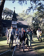 President Carter leaving church on Palm Sunday while he is on vacation on St Simons Island GA in April 1978<br /> Photo by Dennis Brack