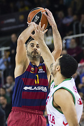 January 27, 2017 - Barcelona, Spain - Juan Carlos Navarro of FC Barcelona during the Euroleague Turkish Airlines EuroLeague regular season between FC Barcelona vs Baskonia Vitoria Gasteiz at Palau Blaugrana on January 28th, 2017 in Barcelona, Spain. (Credit Image: © Xavier Bonilla/NurPhoto via ZUMA Press)