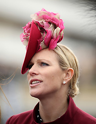 Zara Tindall during Ladies Day of the 2018 Cheltenham Festival at Cheltenham Racecourse. PRESS ASSOCIATION Photo. Picture date: Wednesday March 14, 2018. See PA story RACING Cheltenham. Photo credit should read: Steven Paston/PA Wire. RESTRICTIONS: Editorial Use only, commercial use is subject to prior permission from The Jockey Club/Cheltenham Racecourse.