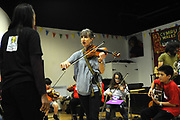 Machynlleth, Wales. 29th July, 2017. <br /> Members of the ECCO (Ethnic Contemporary Classical Orchestra) participating in the instrumental workshop.<br /> Photographer; Kevin Hayes