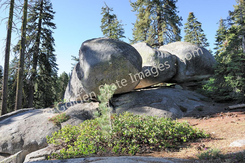 Large granite boulder formations.