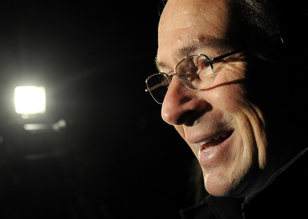 Democratic candidate for governor Dan Malloy smiles as he interviewed after voting in Stamford, Conn., Tuesday, Nov. 2, 2010.  (AP Photo/Jessica Hill)