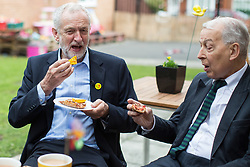 © Licensed to London News Pictures . Liverpool , UK . FILE PICTURE DATED 24/09/2016 of JEREMY CORBYN and FRANK FIELD (r) at Beaconsfield Community House in Birkenhead . Frank Field , MP for Birkenhead , has quit the Labour Party after 40 years , saying the party has become a force for anti-Semitism . Photo credit : Joel Goodman/LNP