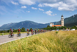 Peloton during the 4th Stage of 27th Tour of Slovenia 2021 cycling race between Ajdovscina and Nova Gorica (164,1 km), on June 12, 2021 in Ajdovscina - Nova Gorica, Ajdovscina - Nova Gorica, Slovenia. Photo by Vid Ponikvar / Sportida