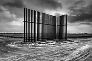 A section of the 'intermittent' Wall, US-Mexico Border not far from the International bridge in Los Indios, TX, USA