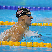 Swimming - Olympics: Day 1  Chase Kalisz, USA<br /> in action while winning the silver medal in the Men's 400m Individual Medley Final during the swimming competition at the Olympic Aquatics Stadium August 6, 2016 in Rio de Janeiro, Brazil. (Photo by Tim Clayton/Corbis via Getty Images)