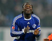 Fotball<br /> Tyskland<br /> Foto: Witters/Digitalsport<br /> NORWAY ONLY<br /> <br /> 06.12.2008<br /> <br /> Jubel 1:0 Gerald Asamoah Schalke<br /> Bundesliga FC Schalke 04 - Hertha BSC Berlin