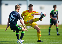 WREXHAM, WALES - Monday, July 22, 2019: Harvey Howell of South during the Welsh Football Trust Cymru Cup 2019 at Colliers Park. (Pic by Paul Greenwood/Propaganda)