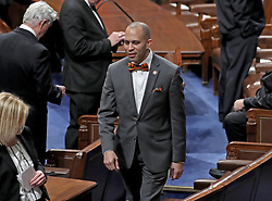 United States Representative Hakeem Jeffries (Democrat of New York) on the floor prior to US President Donald J. Trump delivering his second annual State of the Union Address to a joint session of the US Congress in the US Capitol in Washington, DC, USA on Tuesday, February 5, 2019. Photo by Alex Edelman/CNP/ABACAPRESS.COM