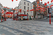 China Town is seen deserted in London, Britain, on Sunday, May 3, 2020. (Photo/ Vudi Xhymshiti)