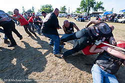 Tug of War games at the Sons of Silence MC party during the 78th annual Sturgis Motorcycle Rally. Sturgis, SD. USA. Wednesday August 8, 2018. Photography ©2018 Michael Lichter.