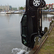Auto te water Havenstraat Huizen thv de Kalkovens