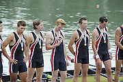 Ottensheim, AUSTRIA.  A  Final,  LM8+, Medals,  at the 2008 FISA Senior and Junior Rowing Championships,  Linz/Ottensheim. Sunday,  27/07/2008.  [Mandatory Credit: Peter SPURRIER, Intersport Images] Rowing Course: Linz/ Ottensheim, Austria