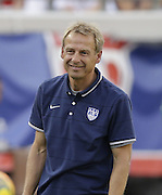 JACKSONVILLE, FL - JUNE 07:  United States head coach Jurgen Klinsmann watches the action on the field during the international friendly match against Nigeria at EverBank Field on June 7, 2014 in Jacksonville, Florida.  (Photo by Mike Zarrilli/Getty Images)