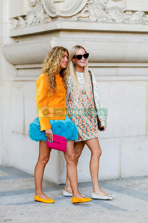 Street style, Emili Sindlev and Thora Valdimars arriving at Paco Rabanne spring summer 2019 ready-to-wear show, held at Grand Palais, in Paris, France, on September 27th, 2018. Photo by Marie-Paola Bertrand-Hillion/ABACAPRESS.COM
