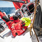 Leg 02, Lisbon to Cape Town, day 19, on board MAPFRE, Pablo Arrarte implementing America's Cup tecniques on the VOR 65. Photo by Ugo Fonolla/Volvo Ocean Race. 23 November, 2017