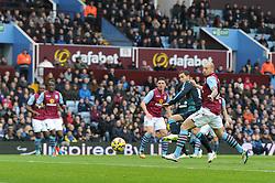 Chelsea's Eden Hazard scores to make it 1 0 - Photo mandatory by-line: Dougie Allward/JMP - Mobile: 07966 386802 - 07/02/2015 - SPORT - Football - Birmingham - Villa Park - Aston Villa v Chelsea - Barclays Premier League