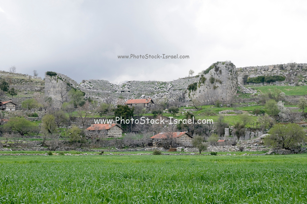 Turkey, Antalya, Koprulu River Canyon, The small village of Selge, The remains of the Roman amphitheatre
