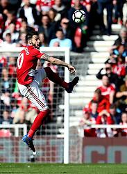 Alvaro Negredo of Middlesbrough controls the ball - Mandatory by-line: Robbie Stephenson/JMP - 19/03/2017 - FOOTBALL - Riverside Stadium - Middlesbrough, England - Middlesbrough v Manchester United - Premier League