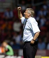 Fotball<br /> Foto: SBI/Digitalsport<br /> NORWAY ONLY<br /> <br /> Southampton v Blackburn Rovers<br /> <br /> FA Barclays Premiership. 21/08/2004.<br /> <br /> Paul Sturrock gives out encouragement.