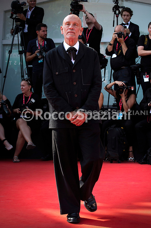 """VENICE, ITALY - SEPTEMBER 01: John Malkovich walks the red carpet ahead of """"The New Pope"""" screening during the 76th Venice Film Festival at Sala Grande on September 01, 2019 in Venice, Italy."""