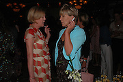 Emma Soames and Candida Lycett Green, Telegraph magazine 40th anniversary, Windows, London Hilton. 6 September 2004. SUPPLIED FOR ONE-TIME USE ONLY-DO NOT ARCHIVE. © Copyright Photograph by Dafydd Jones 66 Stockwell Park Rd. London SW9 0DA Tel 020 7733 0108 www.dafjones.com
