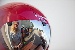 Cecilie Uttrup Ludwig (DEN) of Cervélo-Bigla Cycling Team looks ahead before starting the Crescent Vargarda - a 42.5 km team time trial, starting and finishing in Vargarda on August 11, 2017, in Vastra Gotaland, Sweden. (Photo by Balint Hamvas/Velofocus.com)