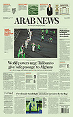 August 25, 2021 - ASIA-PACIFIC: Front-page: Today's Newspapers In Asia-Pacific