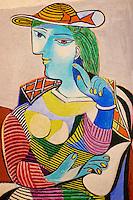 France, Paris (75), Musee Picasso, portrait de Marie-Therese, 1937 // France, Paris, Picasso museum, portrait of Marie-Therese, 1937
