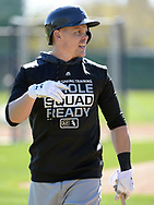 GLENDALE, ARIZONA - FEBRUARY 19: Brandon Guyer #24 of the Chicago White Sox looks on during spring training workouts on February 19, 2019 at Camelback Ranch in Glendale Arizona.  (Photo by Ron Vesely). Subject:   Michael Kopech
