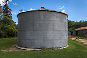 2015/03/04 – Monte Maiz, Argentina: A silo in Mauelita farm where crops like soybeans are stored before they are sold. The soybean is the part of the plant used in many different aliments for human consumption, to feed animals and even to produce bio-fuel. (Eduardo Leal)