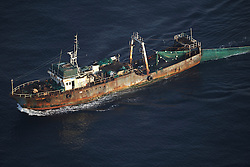 ATLANTIC OCEAN 13NOV14 - Fishing activities in the Atlantic Ocean off the coast of Guinea-Conakry. Stern trawler CNFC 9312, callsign BBGZ, seen fishing.<br /> <br /> jre/Photo by Jiri Rezac / Greenpeace<br /> <br /> <br /> © Jiri Rezac 2014