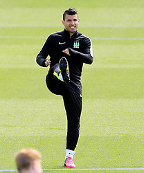 Sergio Aguero of Manchester City  - Mandatory byline: Matt McNulty/JMP - 25/04/2016 - FOOTBALL - City Football Academy - Manchester, England - Manchester City v Real Madrid - UEFA Champions League Training Session