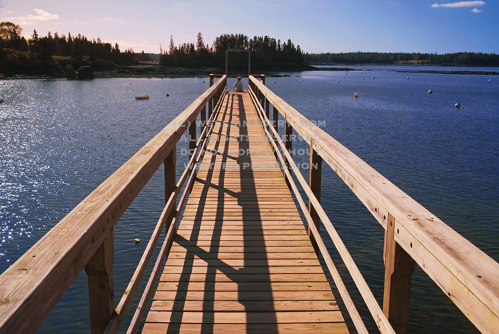 Image of a pier at Deer Island, Maine, America Northeast, model released, by Randy Wells