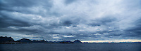 Dramatic sky over sea, Stamsund, Lofoten Islands, Norway