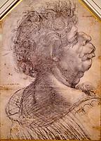 Royaume Uni, Oxford, Christ Church, Leonard de Vinci, Figure grotesque // United Kingdom, Oxford, Christ Church, Leonardo da Vinci, Grotesque figure