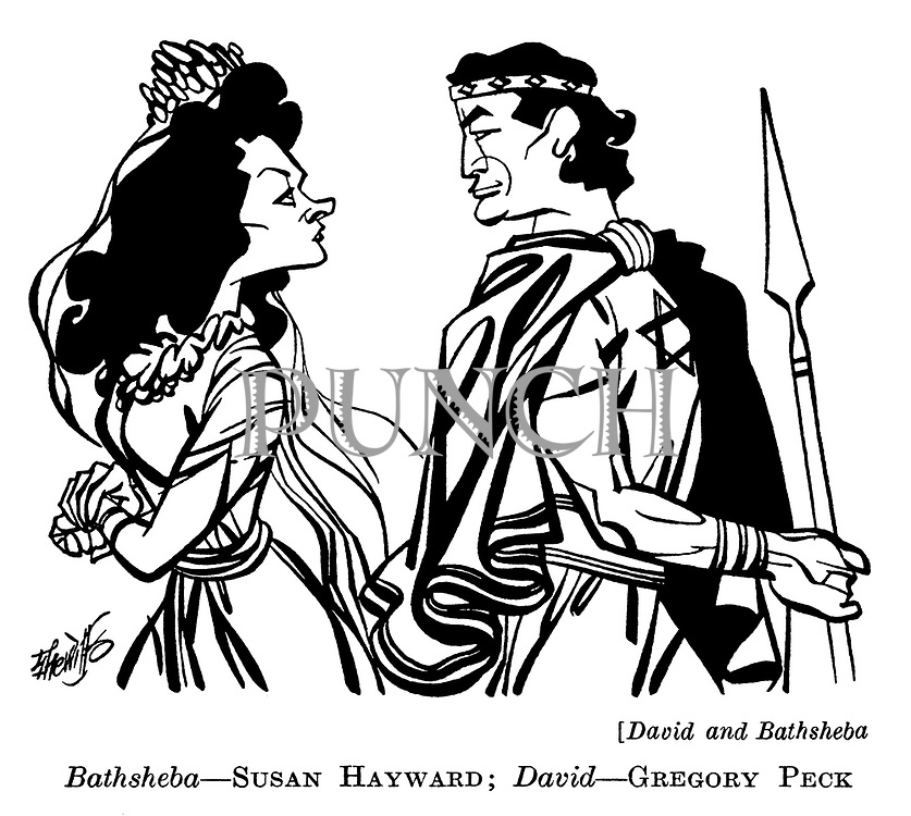 David and Bathsheba : Susan Hayward and Gregory Peck