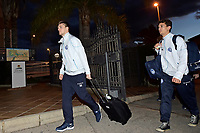 Fotball<br /> Foto: PhotoNews/Digitalsport<br /> NORWAY ONLY<br /> <br /> Foket Thomas midfielder of KAA Gent and new player Gustav Wikheim forward of KAA Gent pictured during the arrival at the hotel for a winter stage of KAA Gent in the Olivia Nova Golf Beach & Golf Hotel in Oliva, Spain.