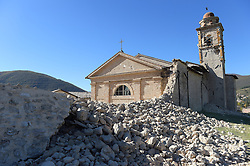 Earthquake in Norcia, central Italy on October 30, 2016. Italy's most powerful earthquake in 36 years struck a new blow to the country's seismically vulnerable heart, terrifying residents for the third time in nine weeks. PHOTO by Eric Vandeville/ABACAPRESS.COM