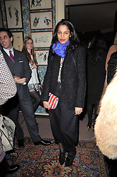 SALONI LODHA at a screening of Charlotte Olympia's new film 'To Die For' held at Mark's Club, Charles Street, London W1 on 22nd February 2011.