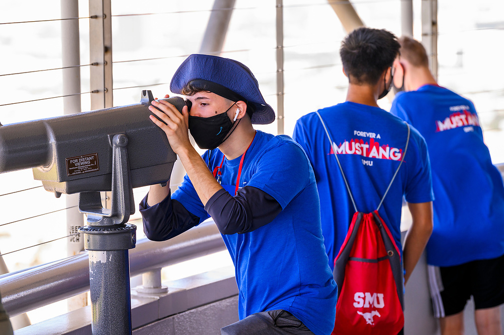 First year students tour Reunion Tower during Stampede's Discover Dallas, Saturday, August 21, 2021 in Downtown Dallas, Texas.