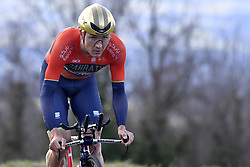 March 7, 2018 - Saint Etienne, France - SAINT-ETIENNE, FRANCE - MARCH 7 : HAUSSLER Heinrich  (AUS)  of Bahrain - Merida in action during stage 4 of the 2018 Paris - Nice cycling race, an individual time trial over 18,4 km from La Fouillouse to Saint-Etienne on March 07, 2018 in Saint-Etienne, France, 7/03/2018 (Credit Image: © Panoramic via ZUMA Press)