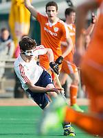 ROTTERDAM -  Duncan Scott   (ENG.)   Practice Match Hockey : Netherlands Boys U18  v England U18 .  COPYRIGHT KOEN SUYK