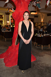 MARY ALICE MALONE at the unveiling of a Very Special Malone Souliers Christmas Tree, In Support Of Starlight Children's Foundation held at The Club Cafe Royal, Regent Street, London on 2nd December 2015.