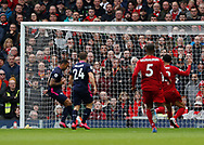 Callum Wilson of Bournemouth scores the first goal during the Premier League match at Anfield, Liverpool. Picture date: 7th March 2020. Picture credit should read: Darren Staples/Sportimage